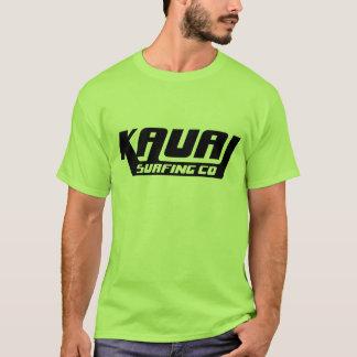 Kauai que practica surf la camiseta del logotipo
