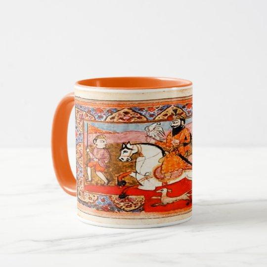 Kaur - arte histórico sikh #4 - naranja taza