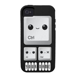 Kawaii Ctrl Alt Del Keyboard - personalizado iPhone 4/4S Funda