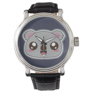 Kawaii, diversión y reloj divertido de la koala