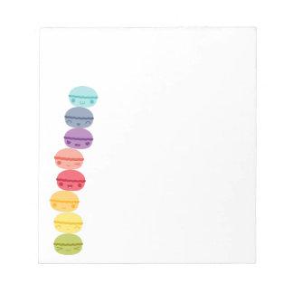 Kawaii Macarons apilado arco iris Bloc De Notas