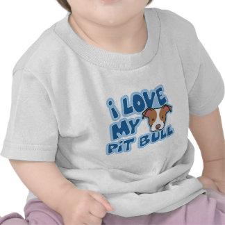 Kawaii mi niño del pitbull de I amor Camisetas