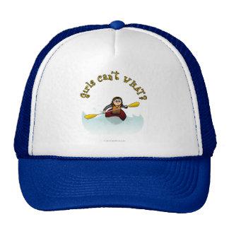 Kayaker ligero de la mujer gorras de camionero
