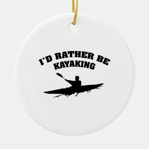 Kayaking bastante ornamentos de reyes