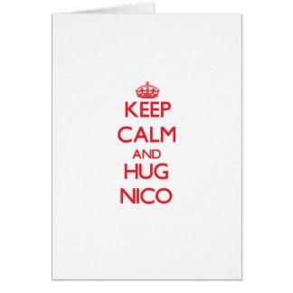 Keep Calm and HUG Nico Cards