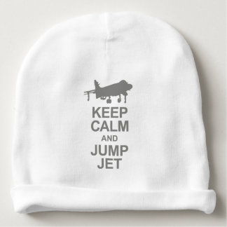 Keep Calm and Jump Jet Gorrito Para Bebe