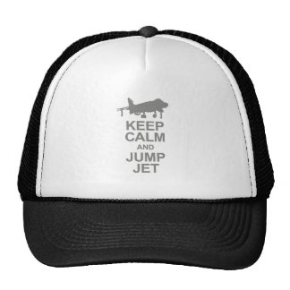 Keep Calm and Jump Jet Gorros Bordados