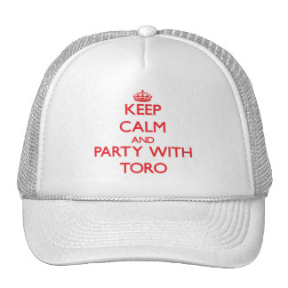 Keep calm and Party with Toro Mesh Hat