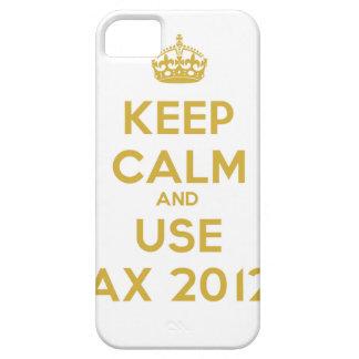 Keep calm and use Ax 2012 iPhone 5 Funda