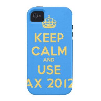Keep calm and use Ax 2012 iPhone 4/4S Fundas
