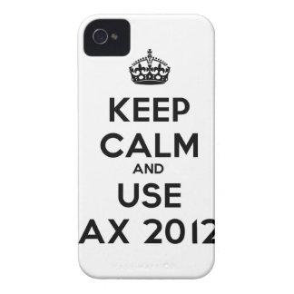 Keep calm and use Ax 2012 iPhone 4 Case-Mate Cárcasas