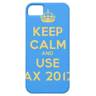Keep calm and use Ax 2012 iPhone 5 Fundas