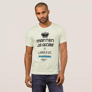 KEEP CALM en español. Camisetas Ingeniero Editable