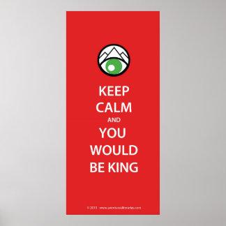Keep Calm Kipling Póster