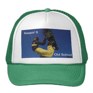 Keepin él gorra de la snowboard de la escuela viej