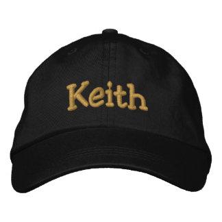 Keith personalizó la gorra de béisbol/el gorra