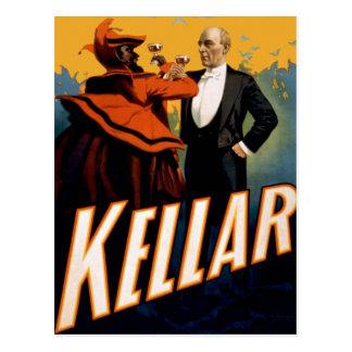"Kellar - ""bebida con la postal del diablo"""