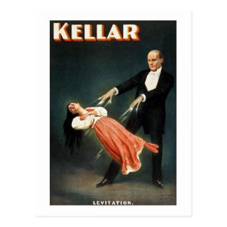 Kellar la levitación del mago - anuncio del postal