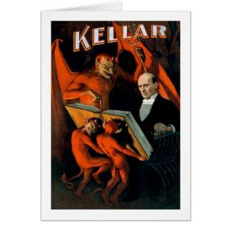 Kellar la magia del vintage del mago tarjeta