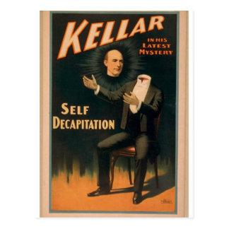"""Kellar, """"teatro del vintage de la degollación del postal"""