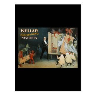 Kellar y sus misterios desconcertantes del postal