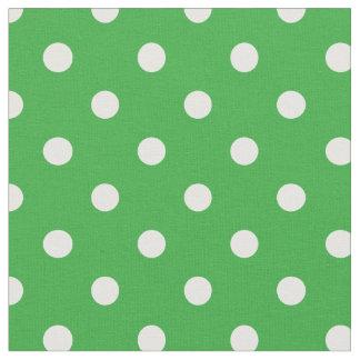 Kelly verde y el blanco puntea la tela del | telas