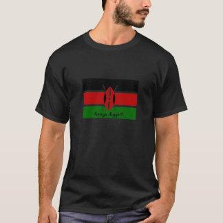 ¿Kenia Diggit? Camiseta de la bandera del Kenyan