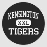 Kensington - tigres - alto - Philadelphia Etiqueta Redonda