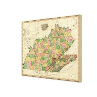 Kentucky Tennessee y parte de Illinois Lona Envuelta Para Galerias