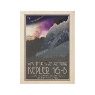 Kepler 16 posters del espacio del art déco de b