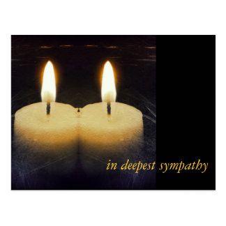 """kerzen """"en deepest sympathy"""