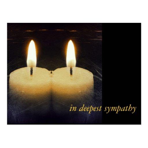 """kerzen """"en deepest sympathy """""""