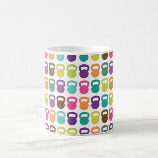 Kettlebells colorido para taza de café