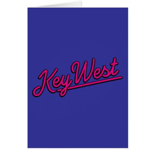 Key West en magenta Tarjetas
