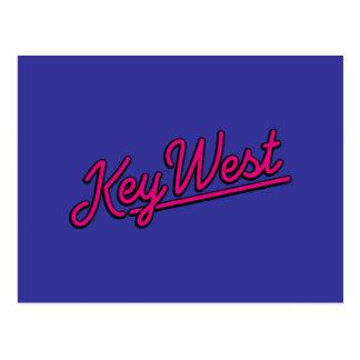Key West en magenta Tarjetas Postales