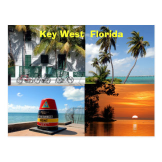 Key West histórico la Florida los E.E.U.U. Tarjeta Postal