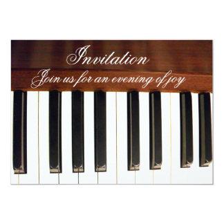 Keys_ del piano invitación 12,7 x 17,8 cm