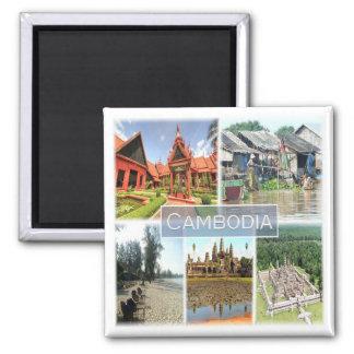 KH * Camboya - Angkor Wat - Phonom Penh Imán Cuadrado