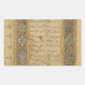 Khamseh de Mir Ali Tabrizi Pegatina Rectangular