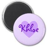 Khloe en púrpura imanes para frigoríficos