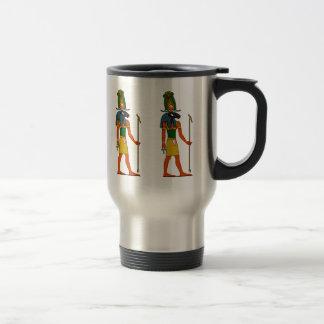 Khnum, dios egipcio antiguo taza de viaje