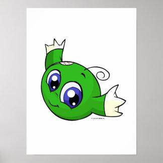 Kiko verde que remolina póster
