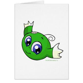 Kiko verde que remolina tarjeta de felicitación