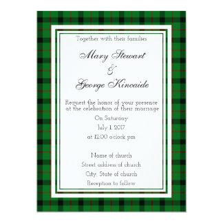 Kincaide Invitatio que se casa escocés Invitación 16,5 X 22,2 Cm