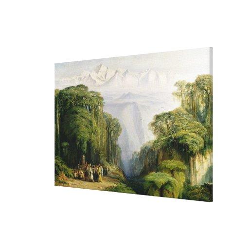 Kinchinjunga de Darjeeling, 1879 (aceite en lona) Impresion De Lienzo
