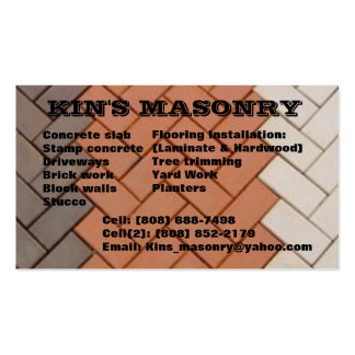 Kin's_masonry Tarjetas De Visita