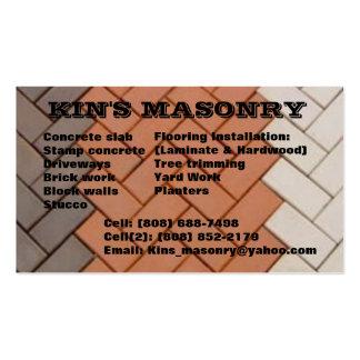 Kin's_masonry Tarjeta De Visita