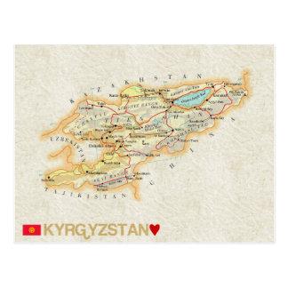 ♥ Kirguistán de las POSTALES del MAPA