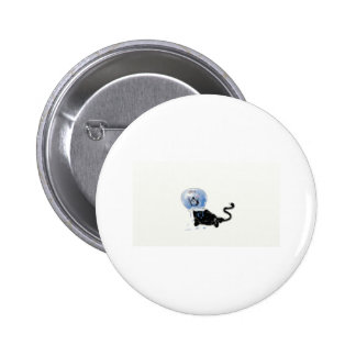 kitteh del astronauta pin