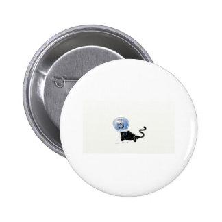 kitteh del astronauta chapa redonda de 5 cm